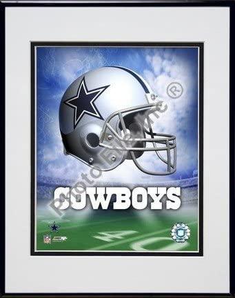 Dallas Cowboys Helmet Logo Double Matted 8