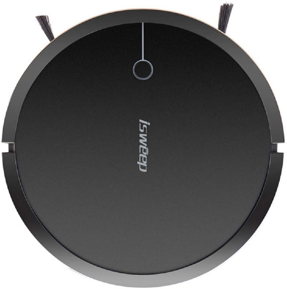 High Suction Self-Charging Robot Vacuum Cleaner, Smart Quiet Uper-Thin Sweeping Robotic for Hard Floor Thin Carpet Pet Hair Tile-Black