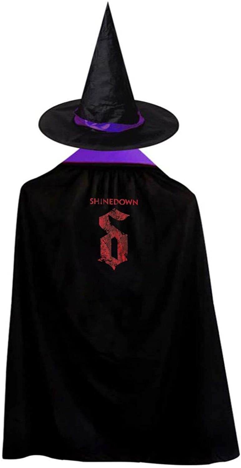 AP.Room Deluxe Halloween Children Costume Shinedown Wizard Witch Cloak Cape Robe and Hat Set