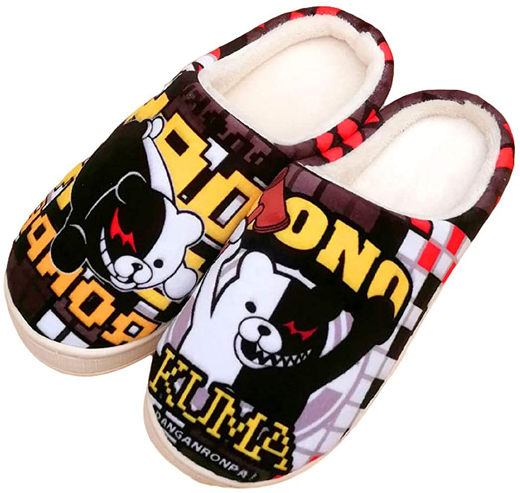 Gumstyle Japanese Anime Style Anti-slip House Slippers Winter Plush Warm Indoor Shoes
