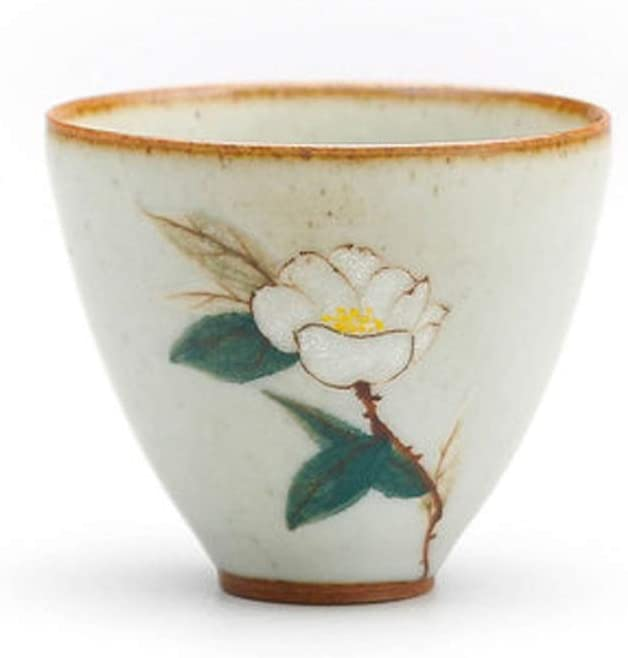 Creative And Personalized Mud And Dyeable Handmade Kung Fu Tea Cups, Hand-painted Ceramic Tea Sets And Tea Cups, Handmade Ceramic Single Cup Tea Cups (Color : Style 4)