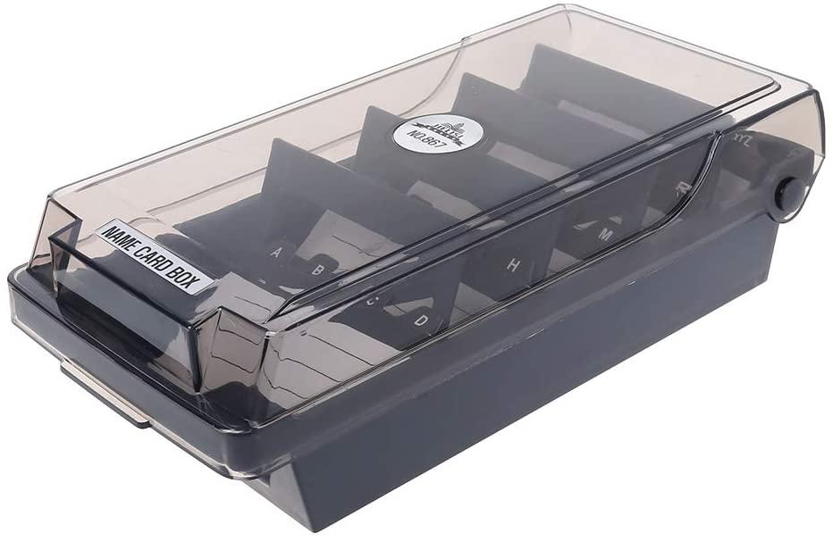 Large Capacity Splitter Index Tabs Business Card Holder Name Card Storage Box Organizer Case