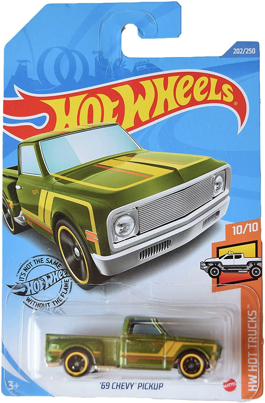 Mattel Hot Wheels Super Treasure Hunt '69 Chevy Pickup 202/250, International Card