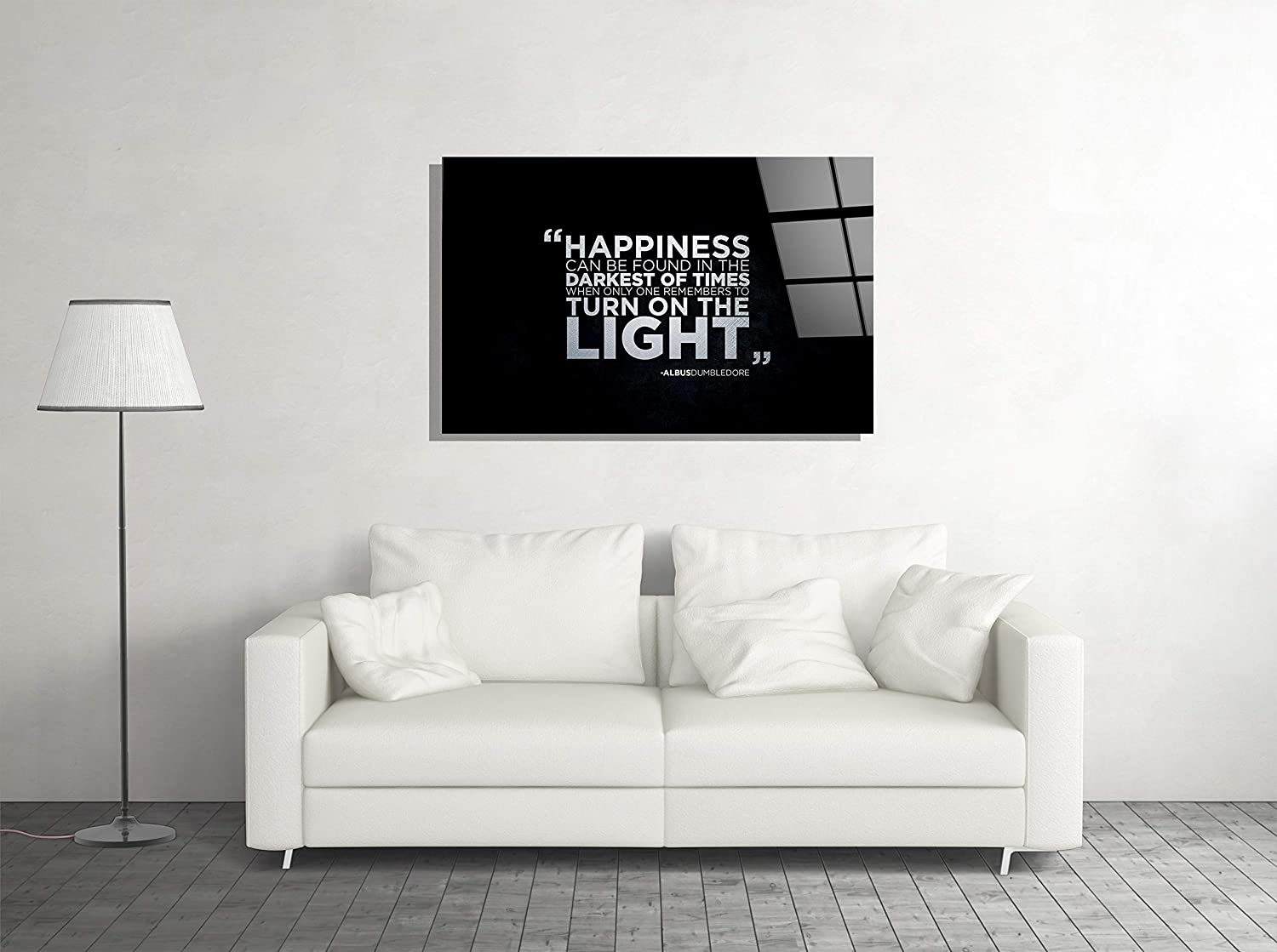 Motivation Quote Office Decor Print Glass Wall Art Tempered Glass Luxury Gift