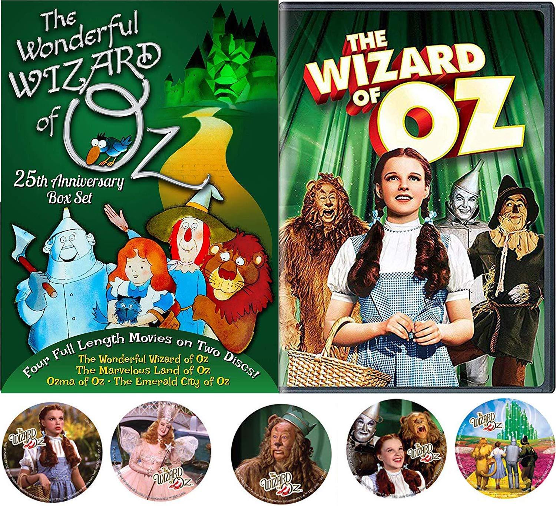 Animated OZ Story Wonderful Wizard of Oz / Emerald City / Land of / Ozma Cartoons Frank Baum Stories 4 features + Musical Classic Movie & Bonus Dorothy Toto Tin Man Cowardly Lion Stickers kids