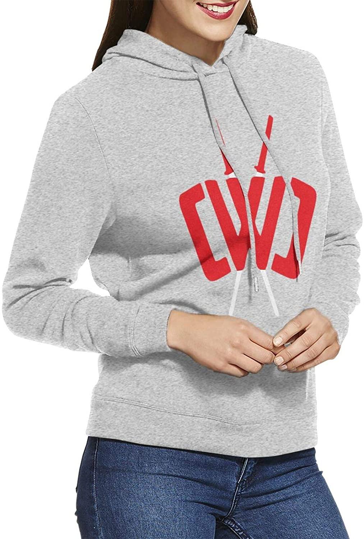 Kcoremia Chad Wild Clay Womens Ultra Soft Fleece Casual Solid Pullover Hoodie Sweatshirt