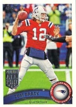 Tom Brady Football Card (New England Patriots) 2011 Topps #400 All Pro