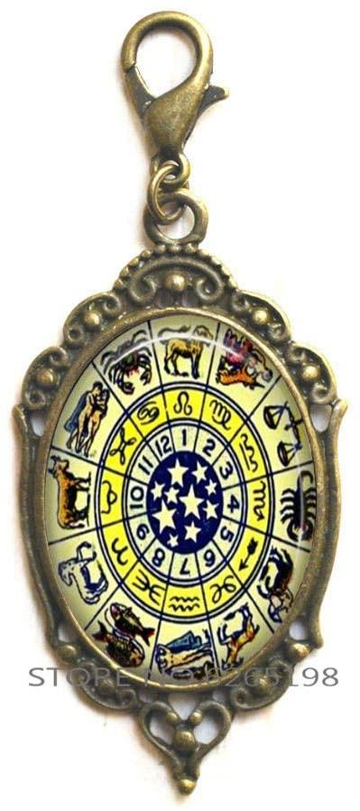 Zodiac Zipper Pull, Zodiac Jewellery, Zodiac Sign Zipper Pull, Zodiac Constellation Zipper Pull,N205
