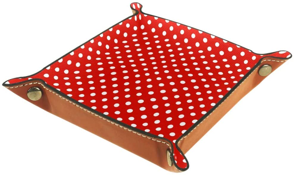 White Polka Dots On Red Background Storage Box Cube Basket Bins Containers for Office Home