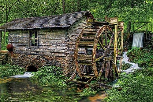 yyone Canvas Printing Poster Wall Décorlittle Mill in The Forest, Home Decor Hanging Canvas Art Print Poster for Living Room/Bed Room 12