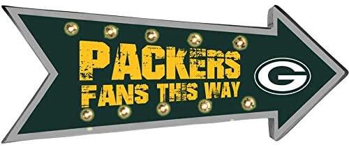 FOCO NFL Green Bay Packers Running Light Marquee Signrunning Light Marquee Sign