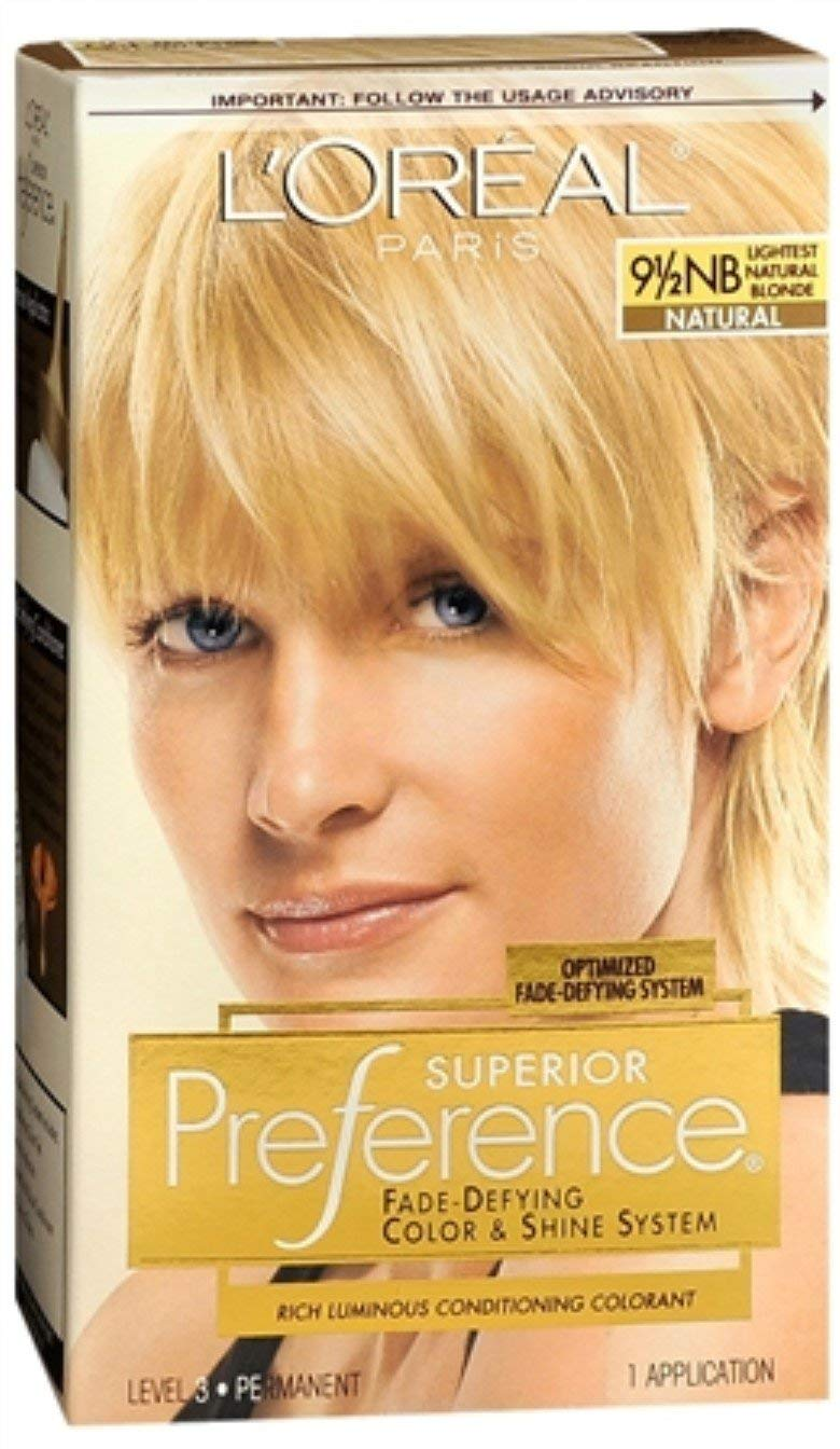 LOreal Superior Preference - 9-1/2NB Lightest Natural Blonde (Natural) 1 Each (Pack of 7)