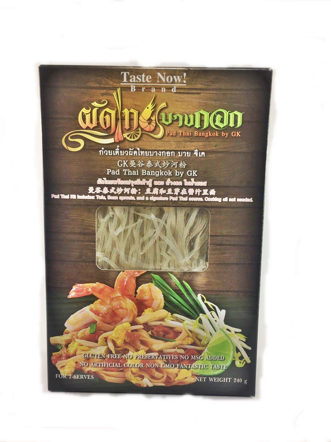 Taste Now! Thai Cuisine Healthy food Amazing Pad Thai Kit include Tofu and Bean sprout in Signature sauce Gluten fee