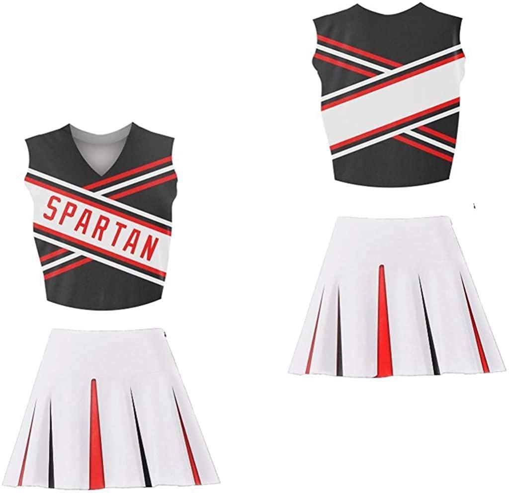 SNL East Lake High Spartan Spirit Cheerleader Uniform Set Stitch SM-2XL