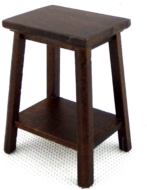 Melody Jane Dolls Houses Dark Oak Fern Stand Plant Pedestal Medium Miniature Furniture 1:12