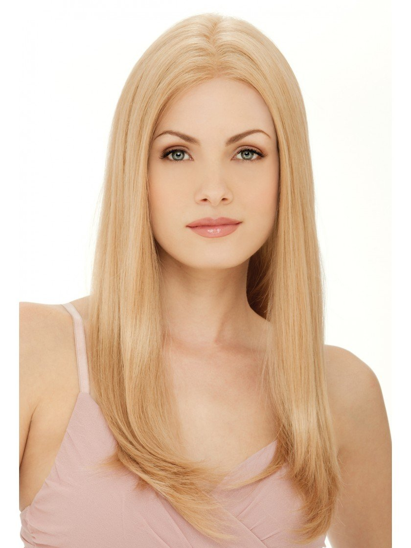 Victoria Wig Remy Human Hair Hand Tied Lace Front Monofilament Long Layers Center Part by Estetica Wigs,R140/22