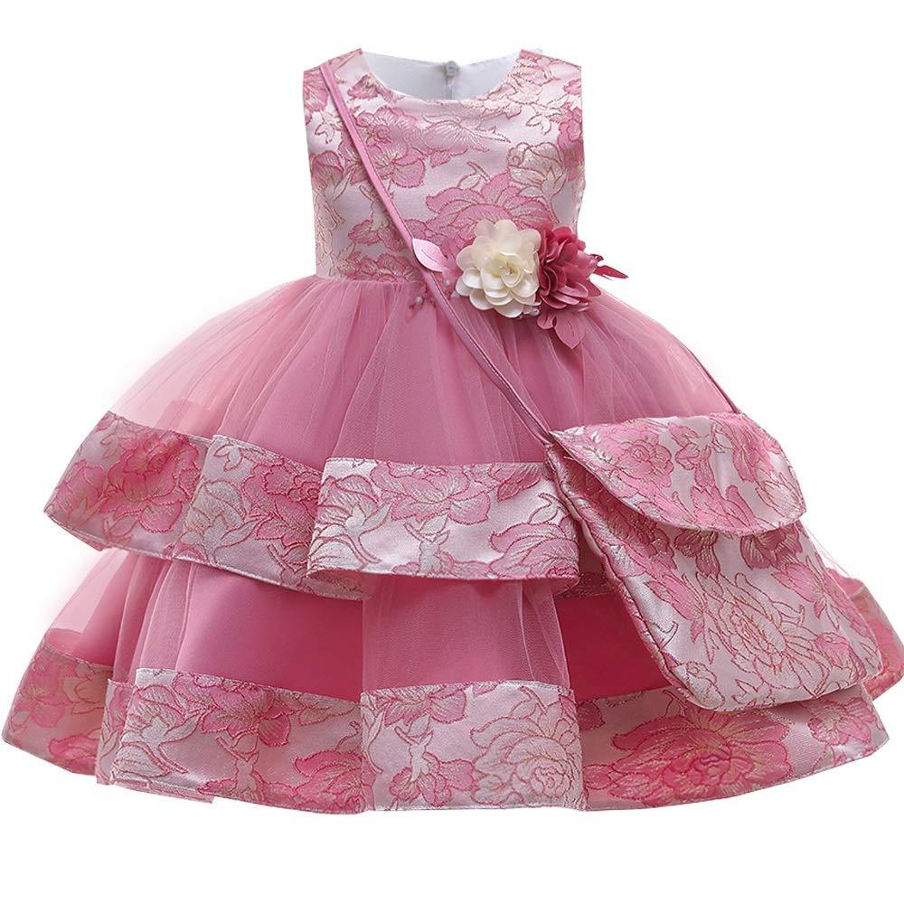 Christmas Dresses for Baby Girls, White Wedding Satin Princess Baby Girls Dress Bead Bow Birthday Evening Party Infant Dress for Girl Gala Kid Clothes, Baby Girl Dresses, Baby Shower Dress