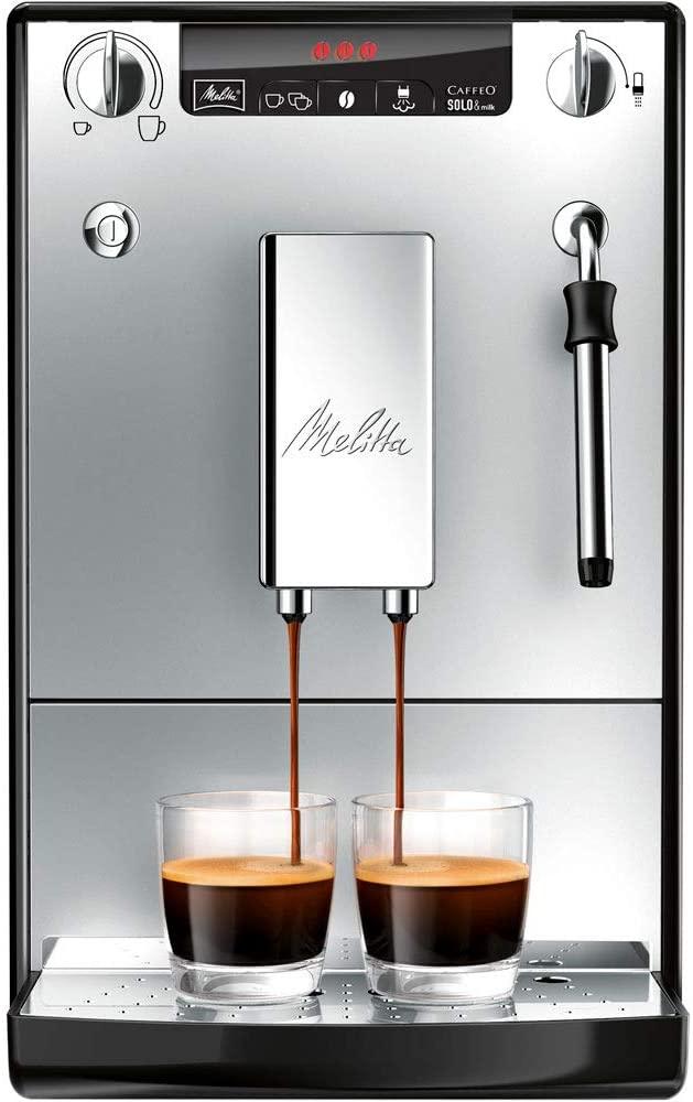Melitta Caffeo Solo & Milk Bean to Cup Espresso/ Cappuccino Coffee Machine, Silver/ Black