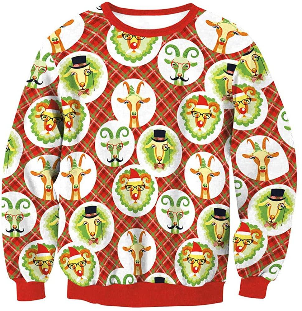Women Pullover Long Sleeve Shirts Teen Girls Sweatshirts Christmas Printing Cute Sweater Blouse Tops