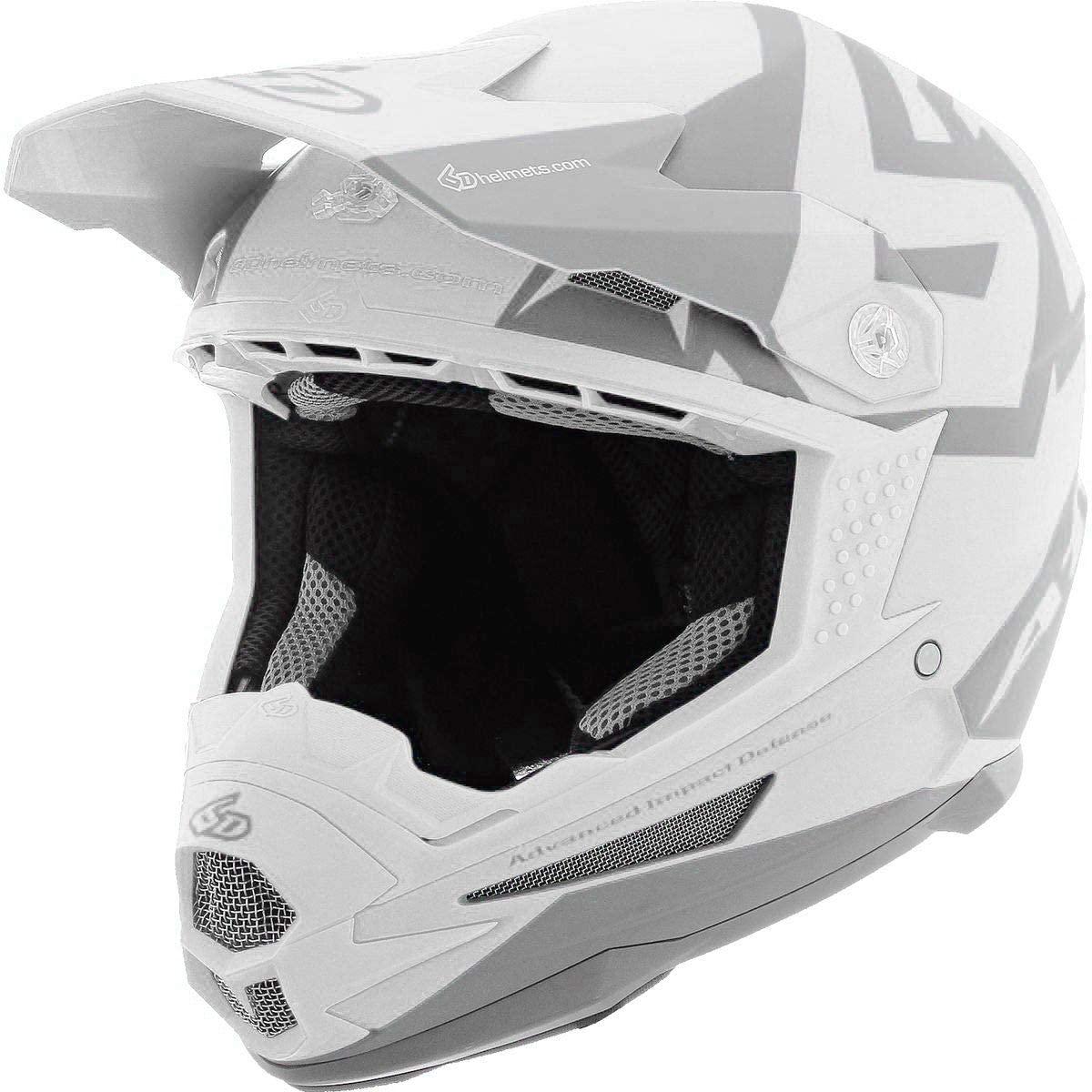 6D ATR-1 Switch Matte Offroad Helmet - White/Black - Large