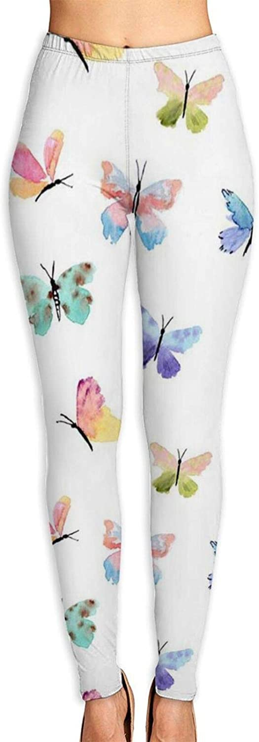 Butterfly High Waist Yoga Pants, Women Stretch Exercise Pants for Running Cycling Yoga Workout