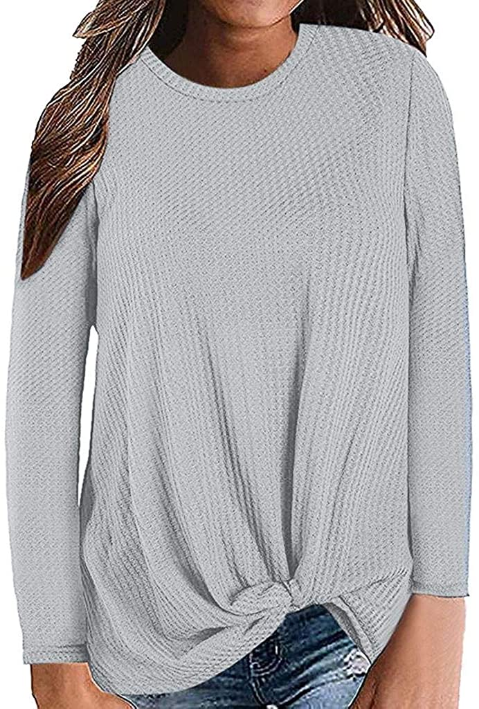 terbklf Knitted Sweaters for Women Crop Top Ladies Slim Cowl Neck Long Sleeve Knit Pullover Jumper Casual Shirts Blouses