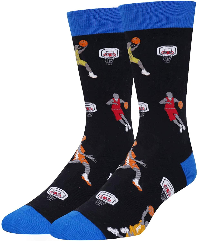 HAPPYPOP Mens Golf Poker Football Book Socks Funny Crazy Novelty Sports Socks Gift