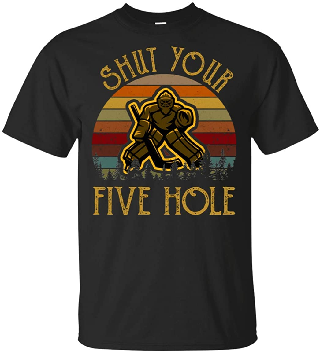 Shut_ Your Five Hole_ Vintage t-Shirt Icehockey Shirt