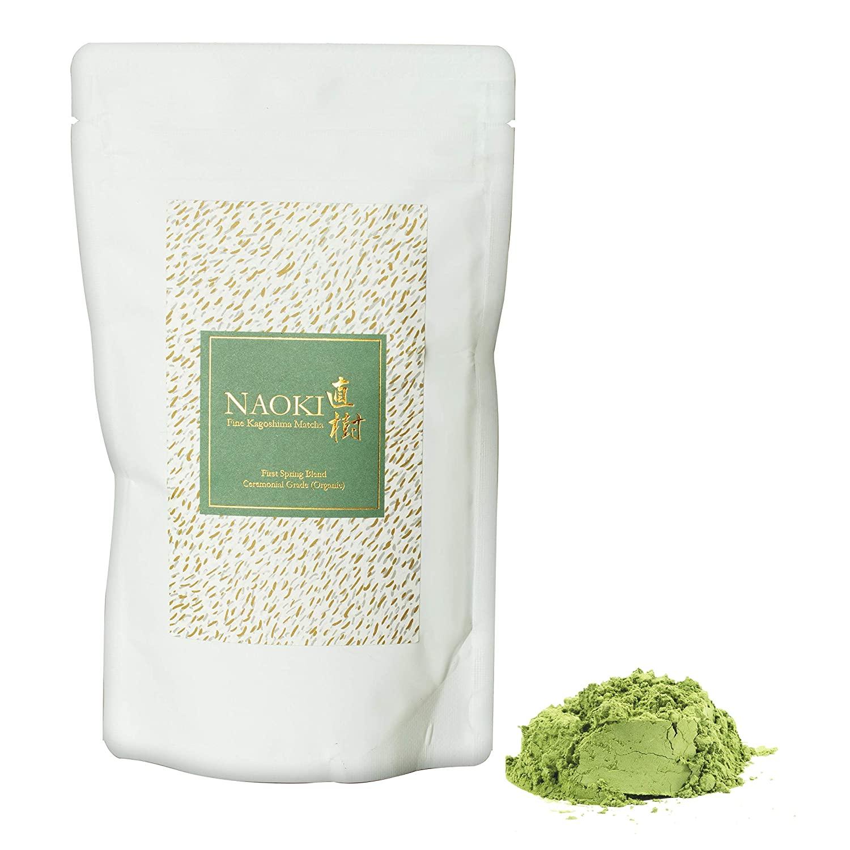 Naoki Matcha (Organic First Spring Blend, 100g / 3.5oz) - Authentic Japanese Matcha Green Tea Powder Organic Ceremonial Grade from Kagoshima, Japan