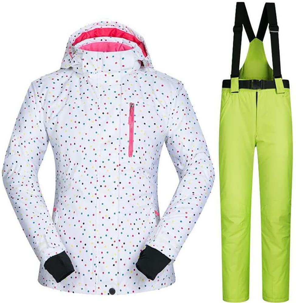 SHANGXIAN Women Ski Suit Snowboarding Hooded Snowsuit Winter Warm Waterproof Windproof Ski Jacket + Pants Set