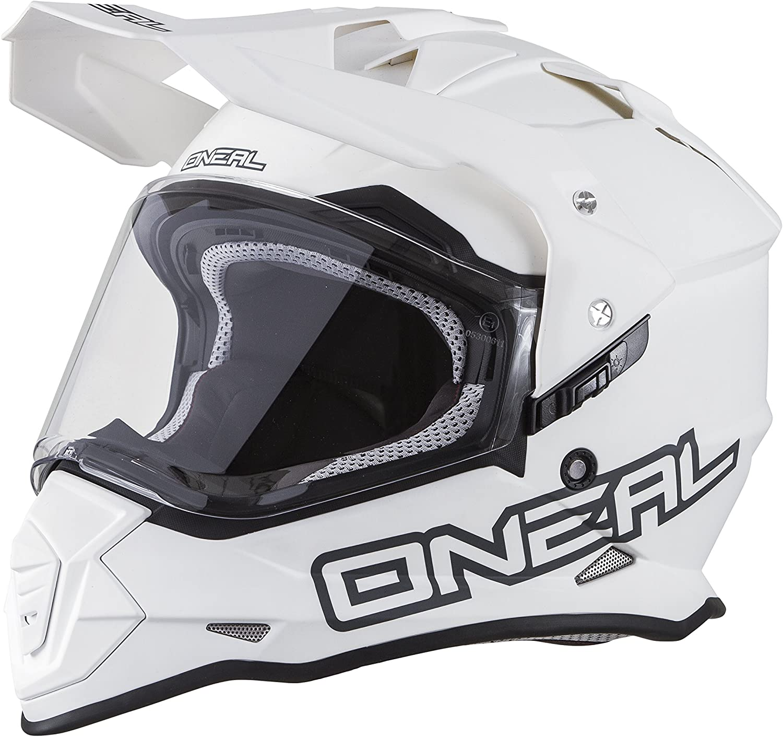 O'Neal 0817-512 Unisex-Adult Full-face Style Sierra II Helmet Flat White S (55/56cm) (Small)
