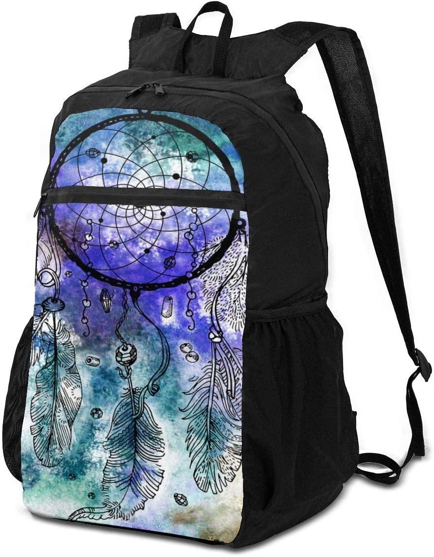 BackpackDream Catcher On Watercolor Background Backpack School Shoulder Backpacks Casual Daypack
