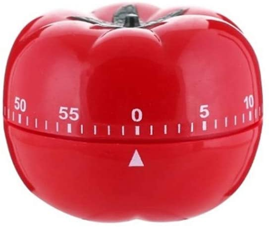 Tomato Timer Kitchen 360-degree Rotating Mechanical Alarm Clock Stainless Steel 60-Minute Countdown Cooking Timer Used for Kitchen Learning Nap Alarm Red