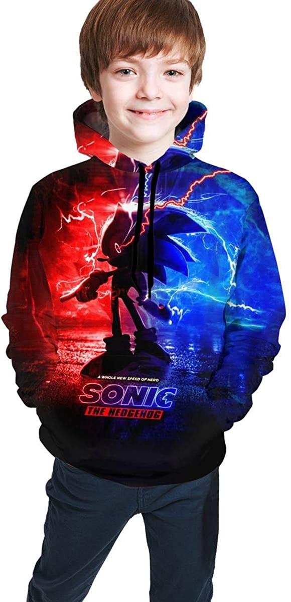 Narpult Sonic The Hedgehog Kids' Soft Hooded Sweatshirt Hoodie for Boys Or Girls