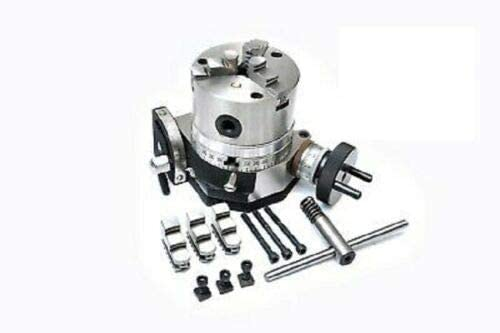 Tilting Rotary Table 3/80mm with 80 MM 3 JAW SELF Centering Chuck Backplate