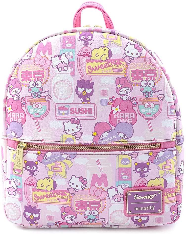 Loungefly X Sanrio Hello Kitty Kawaii Convertible Mini Backpack