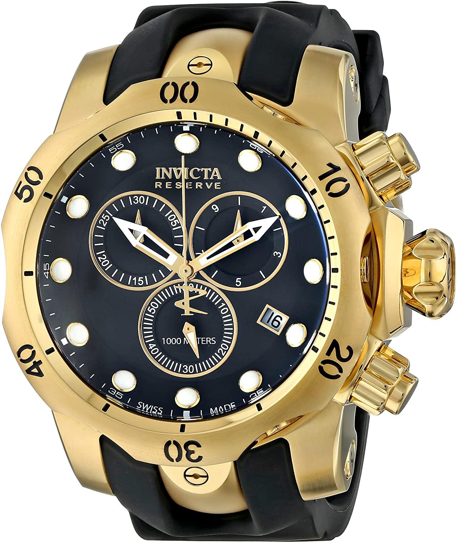 Invicta Men's 6112 Reserve Collection Subaqua Venom 18k Gold-Plated Chronograph Watch
