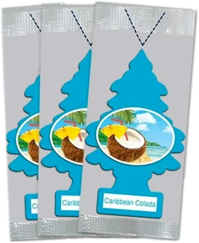 Little Trees Car Air Freshener 3-Pack (Caribbean Colada)