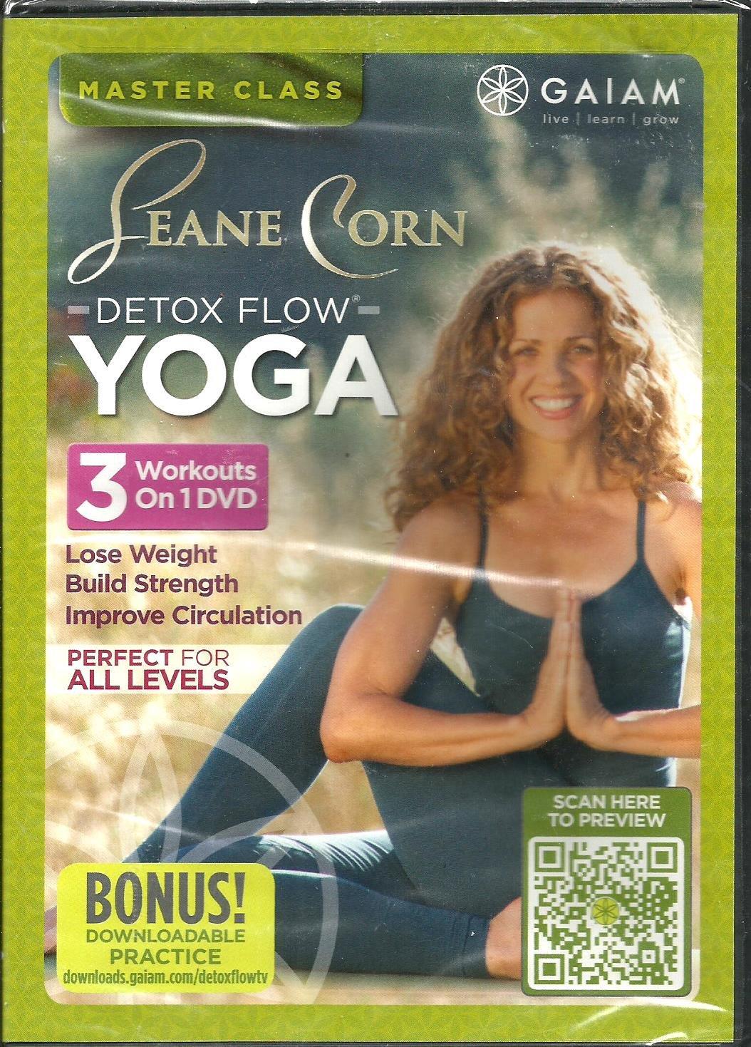 Gaiam Seane Corn Detox Flow Yoga DVD 3 Workouts on 1 DVD - Lose Weight, Build Strength, Improve Circulation