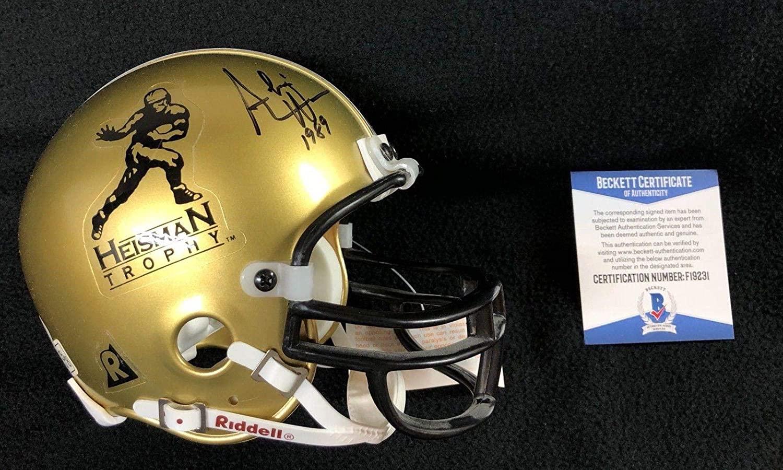 Andre Ware Signed Houston Shasta Heisman Trophy Mini Helmet Beckett COA - Autographed College Mini Helmets