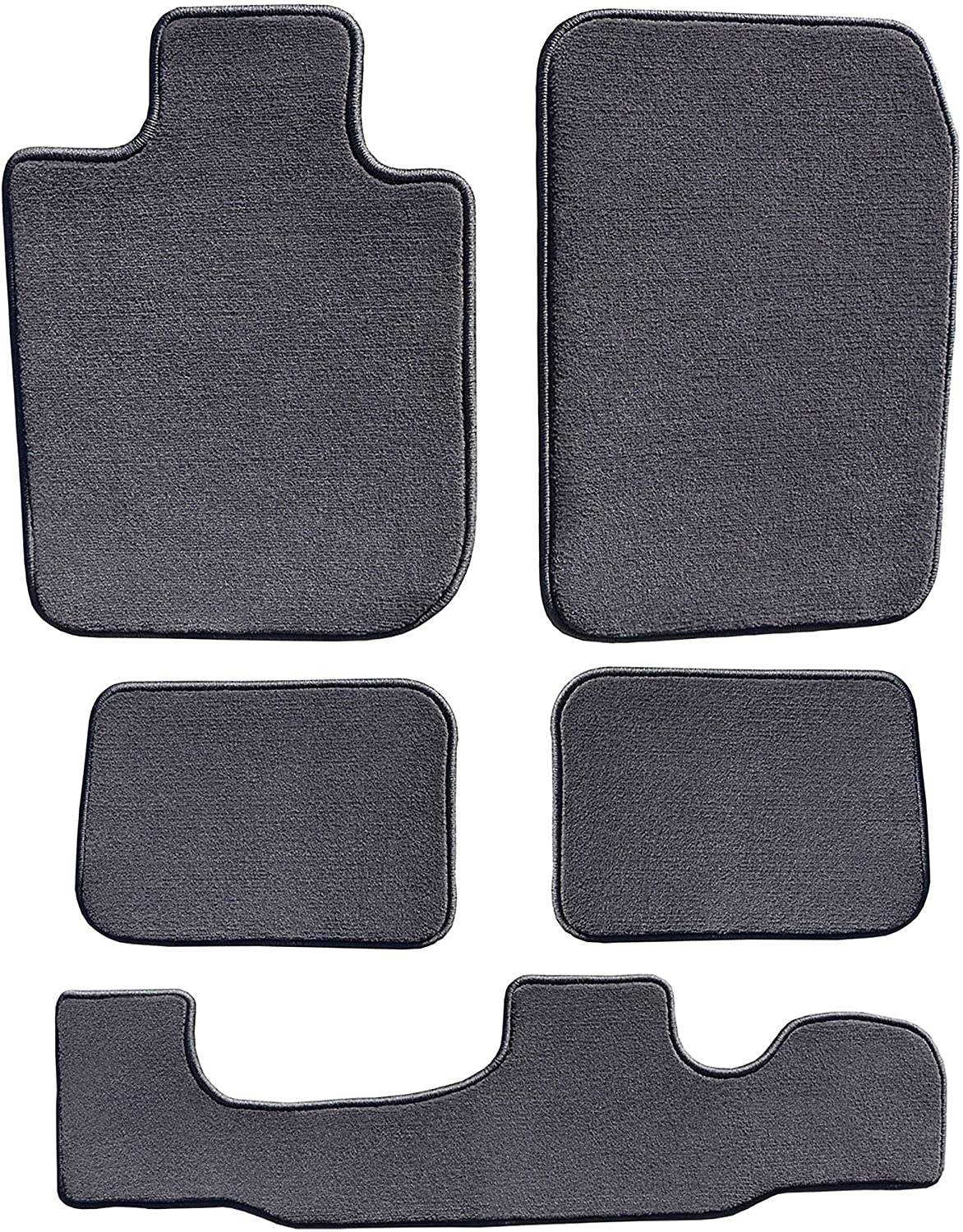 GGBAILEY Charcoal Driver, Passenger, 2nd and 3rd Row Floor Mats Custom-Fit for Chrysler Pacifica 2017-2018