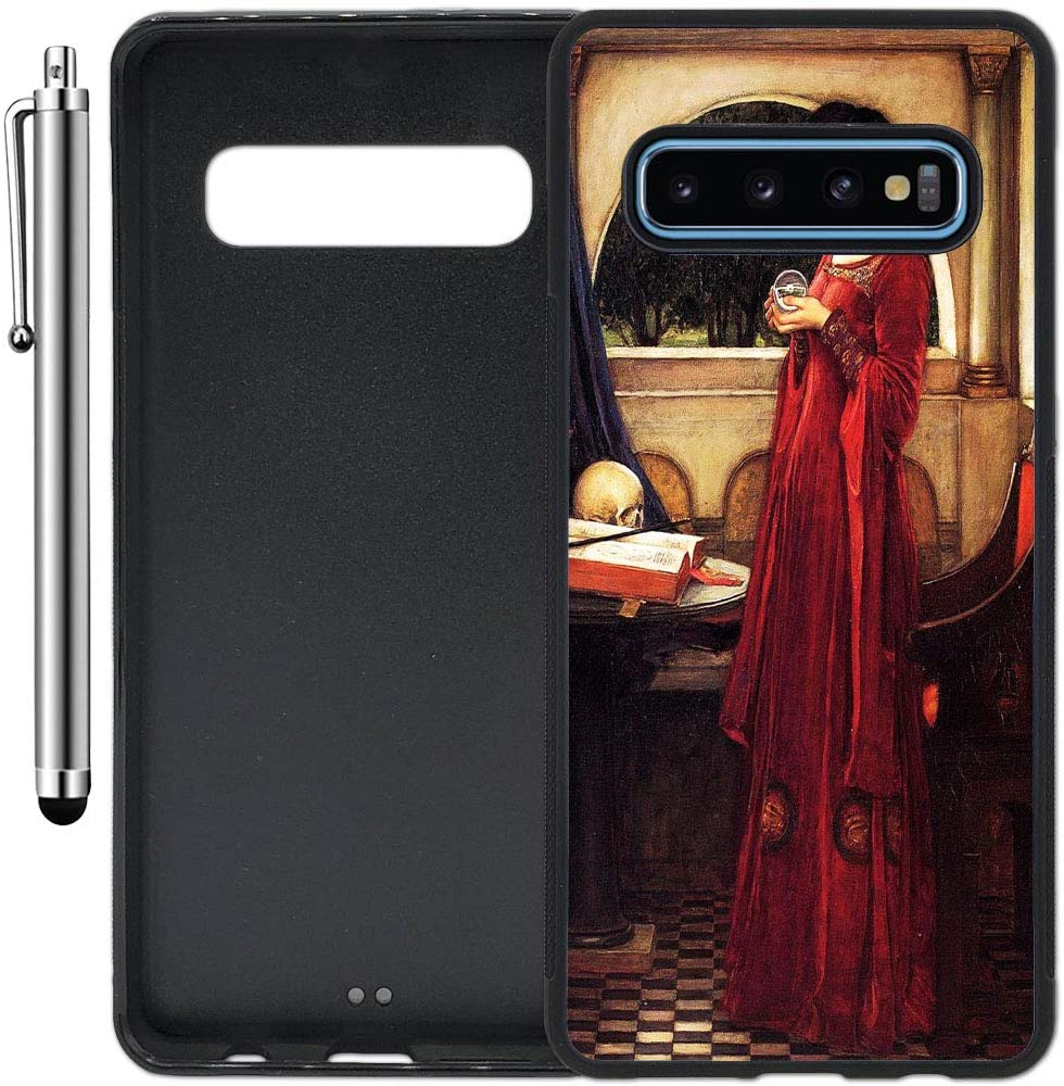 Custom Case Compatible with Galaxy S10 (Crystal Ball Gothic Painting) Edge-to-Edge Rubber Black Cover Ultra Slim | Lightweight | Includes Stylus Pen by Innosub