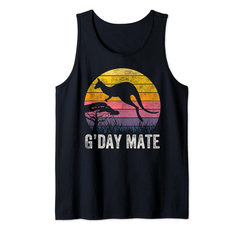 Australia G'Day Mate Shirt Funny Kangaroo Australian Symbol Tank Top