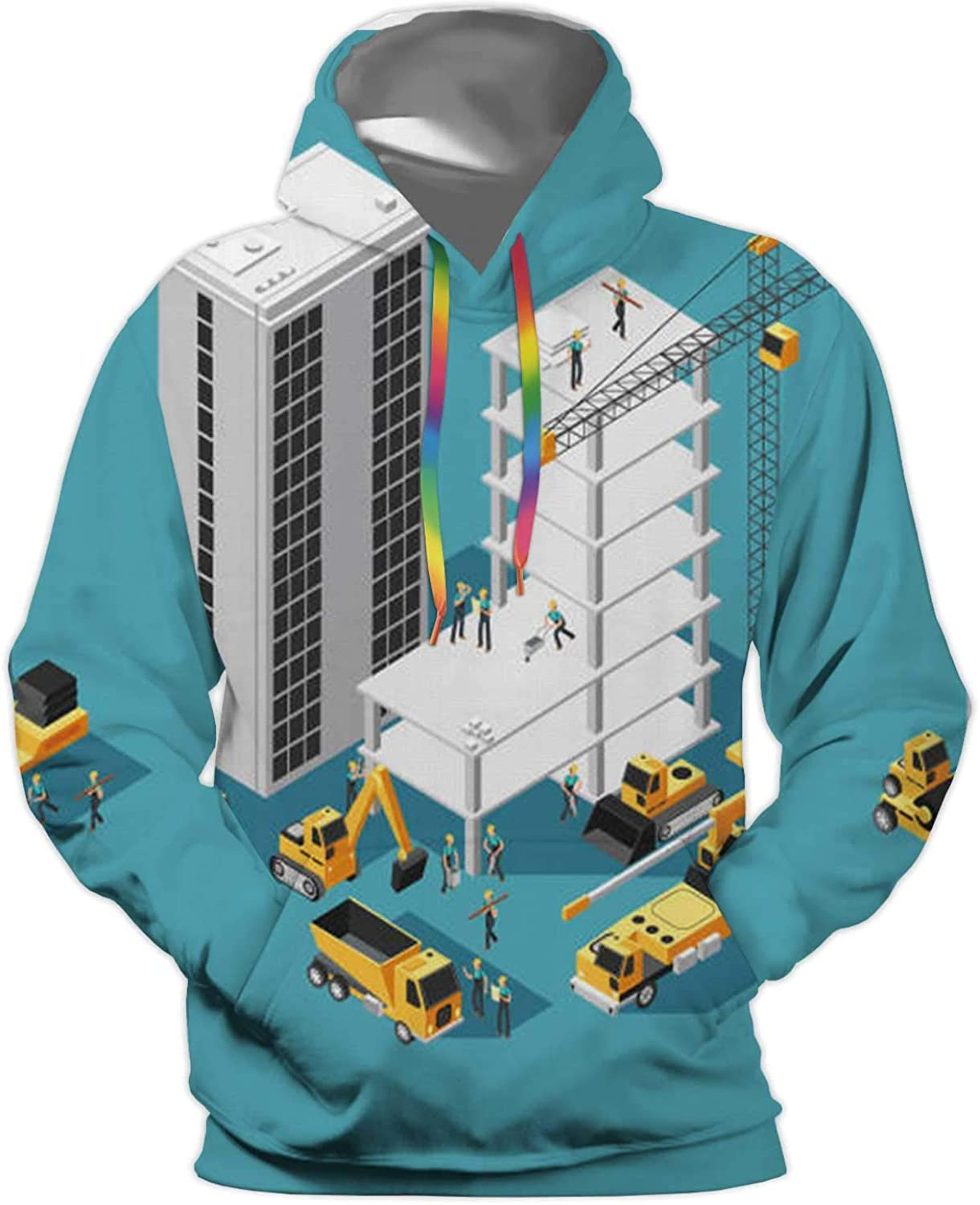 al Lines Under a Night Sky with Moon,Unisex 3D Print Pullover Hooded Hoodies with Big Pocket Power line
