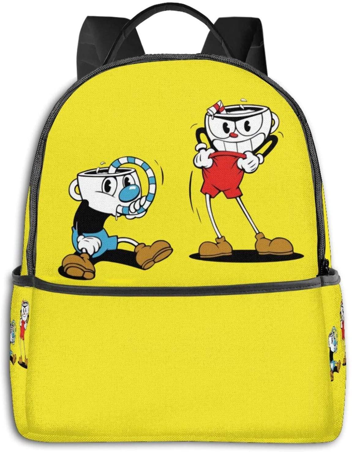 Tenghui Backpacks Cuphead Casual Backpacks, Student School Bags