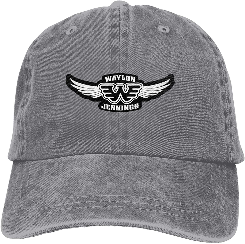 Nanobibi Waylon Jennings Baseball Caps Mens Womens Adult Adjustable Hats Cowboy Hat Black