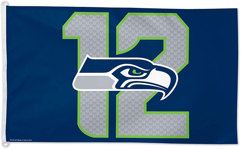 NFL Seattle Seahawks 12th Man Flag, 3 x 5-Foot, Multicolor