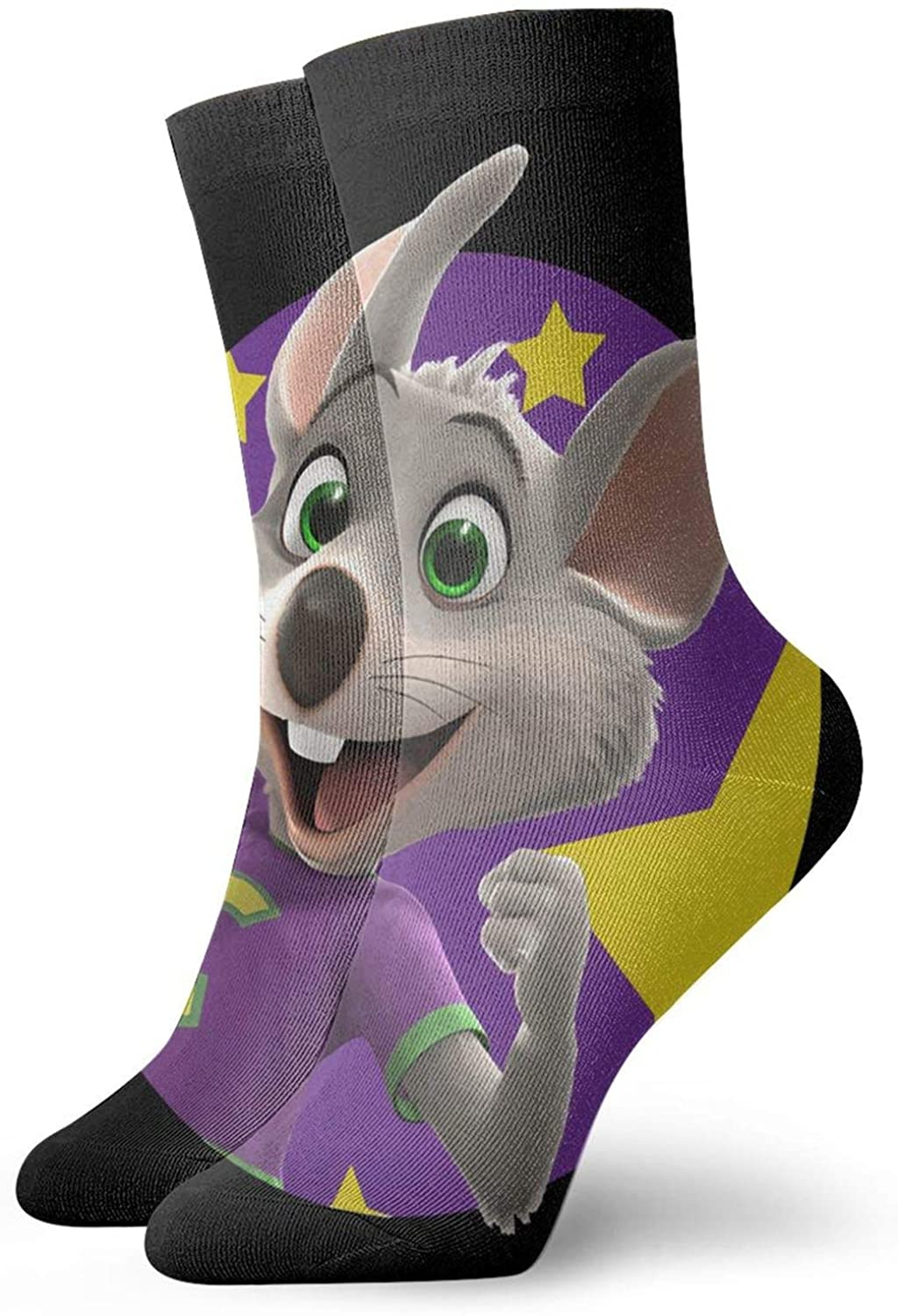 Chuck E CheeseS Unisex Men & Womans Comfortable Casual Socks Short, Boat Socks One Size