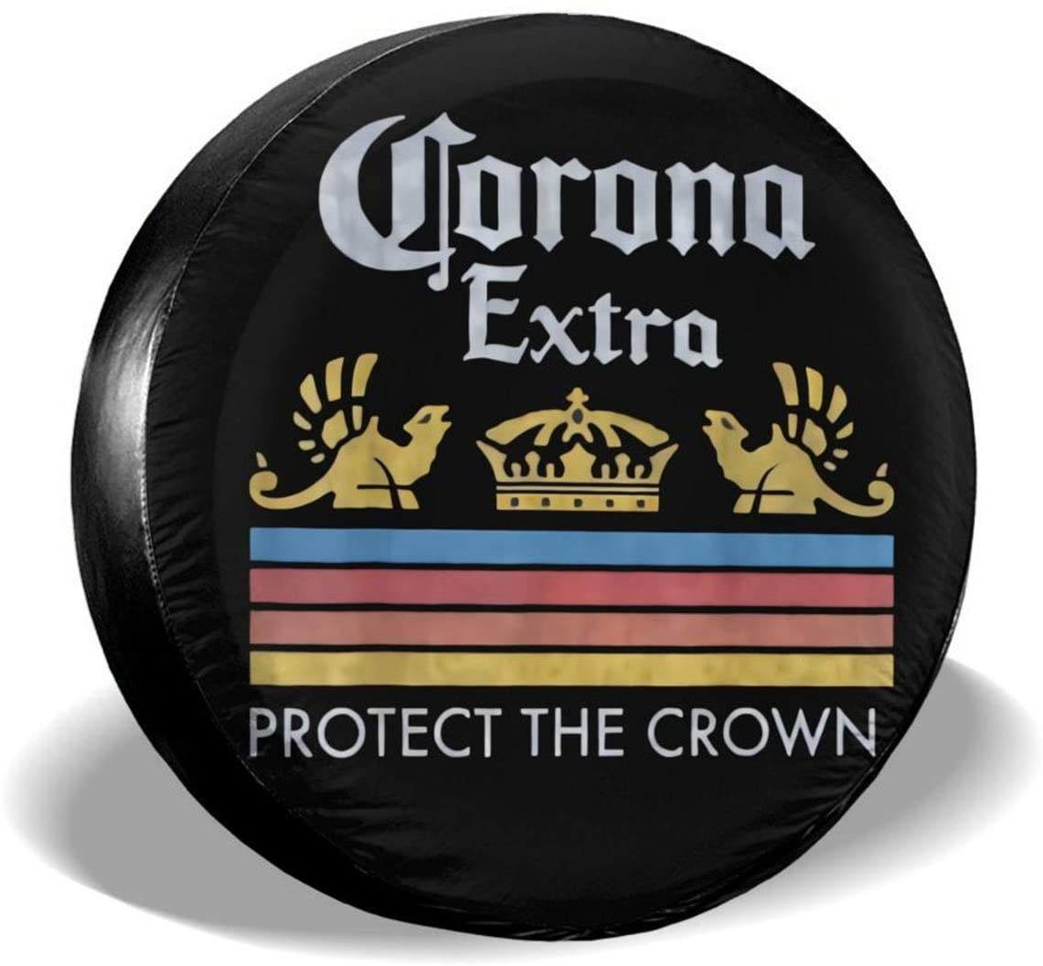 Guoguoding Corona Extraa Tyre Cover Waterproof and Uv-Proof Sun Tire Cover Suitable for Trailers Rvs SUV and Many Vehicle Wheels