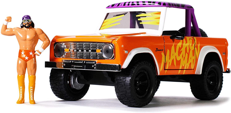 Jada Toys WWE 1:24 1973 Ford Bronco Die-cast Car with 2.75